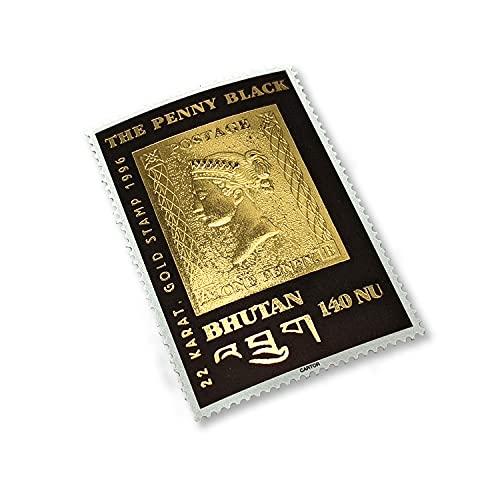 IMPACTO COLECCIONABLES Il Primo Francobollo in Oro da 22 Carati, emesso in Bhutan 1996