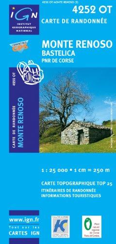 Korsika Monte Renoso - Bastelica 1 : 25 000: Parque National de la Corse