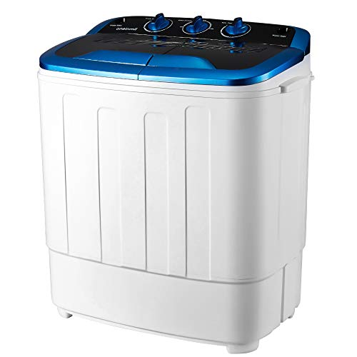 EROMMY Portable Mini Cloth Twin Tub Washing Machine Compact Washer w/Wash and Spin Cycle, 12.5 lbs 2IN1 Washer Ideal for…