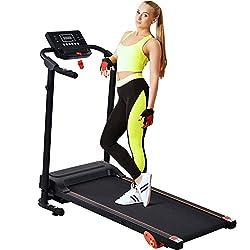 small Folding treadmill for easy assembly with Merax electric treadmill (gray black)