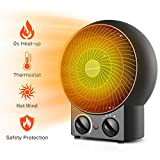 Aigostar Airwin Black 33IEL - Radiateur soufflant, air chaud et froid, 2000W. Régulateurs température et puissance. Protection contre la surchauffe. Couleur noir. Design exclusif.