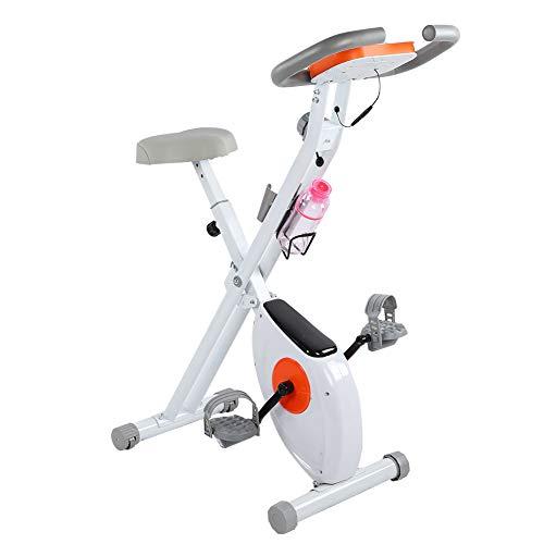 Cikonielf - Bicicleta estática plegable con pantalla LED-fondo, ajustable, para uso en gimnasio o en casa, carga máxima: 150 kg