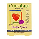 ChildLife Essentials Healthy Vision SoftMelts - for Infants, Babies, Kids, Toddlers, Children, and Teenagers - Natural Berry Flavor - 27 Tablets