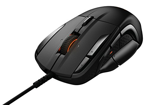 Steelseries rival 500 mmo/moba 15-button programmable gaming mouse - 16,000 cpi, black