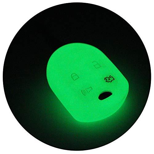 Coque de clé de voiture FG pour 4 boutons - En silicone - Finest Folia (phosphorescent)