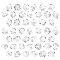 WINOMO 600個偽クリスタルアクリル宝石透明な氷岩ダイヤモンド花瓶フィラー岩結婚式誕生日パーティーテーブル散布センターピース