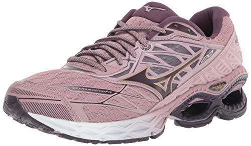Mizuno Women's Wave Creation 20 Running Shoe, Woodrose - Plum Perfect, 10.5 B