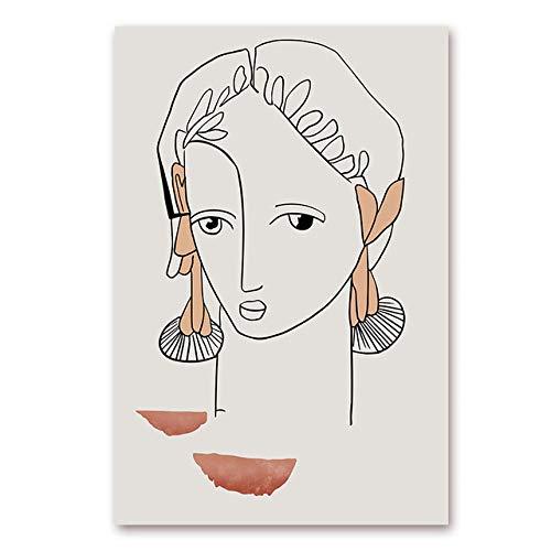 Moderne abstrakte skandinavische Figur Liebe Leinwand Bild nordische Wand künstlerische Bilder Poster für Galerie und Druck Wohnzimmer Home Decoration (kein Rahmen)
