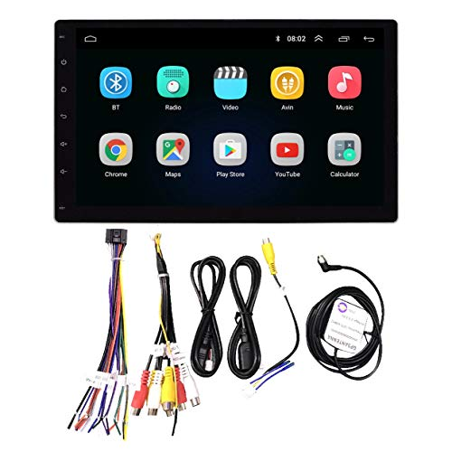 Youmine 1DIN Desmontar la Pantalla 10.1 Pulgadas Radio EstéReo del AutomóVil Android 8.1 Pantalla de Contacto 1080P Quad-Core GPS Navi Reproductor de Radio del Coche