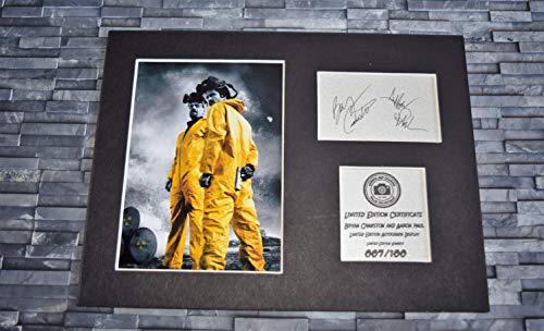 Signiertes Autogramm von Breaking Bad - Bryan Cranston und Aaron Paul als Walter White und Jesse Pinkman, gerahmt