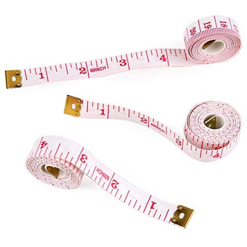 3個入り 巻き尺 両面目盛 メジャー 巻尺 テープメジャー 裁縫 ウエスト メジャー 縫製 測定用 バスト 体サイズ コンパクト