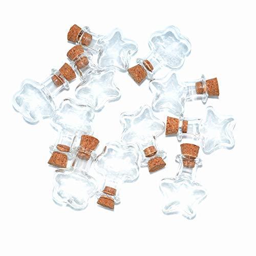 SHAOTONG Botes pequeños de Cristal con tapón de Corcho, 2 ml, para...