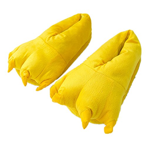 MizHome Unisex Soft Paw Claw Home Slippers Animal Costume Shoes Yellow M