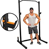 GRIND Fitness Alpha1000 Squat Stand, Exercise Rack with Pull Up Bar, Barbell Holder and Weight Plate Storage Pegs, 2x2 Steel Uprights, J-Cup 1000 lbs Weight Limit