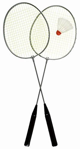 Idena 7408400 - Federball Set Easy mit 2 Schlägern und einem Ball, Ballspiel für Kinder und Erwachsene, ideal im Sommer für Garten, Park oder Strand