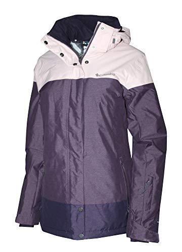 Columbia Women's Snowshoe Mountain Omni Heat Waterproof Hooded Ski Jacket (L, Dusty Purple/Light)