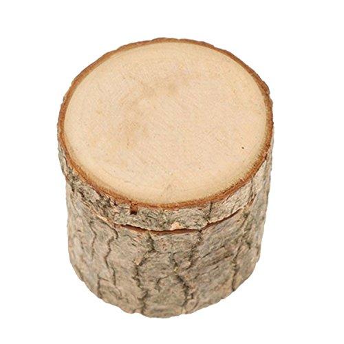 Supvox Caja de anillo de madera Caja de anillo de boda rústica Caja de anillo de compromiso Caja de San Valentín de boda Caja de joyería vintage Titular del anillo
