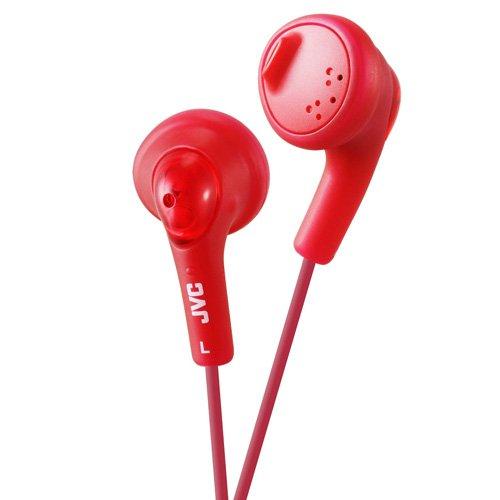 JVC Gumy - Auriculares in-Ear para el iPod, iPhone, MP3 y Smartphone (imán de neodimio, Cable de 1 m, 15 Hz - 20 KHz), Color Rojo