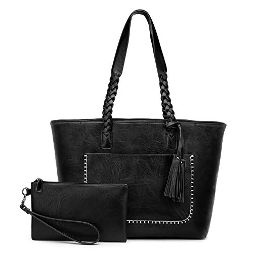 Women's Vintage Synthetic Leather 2 Piece Purse Set Now $15.98 (Was $40)