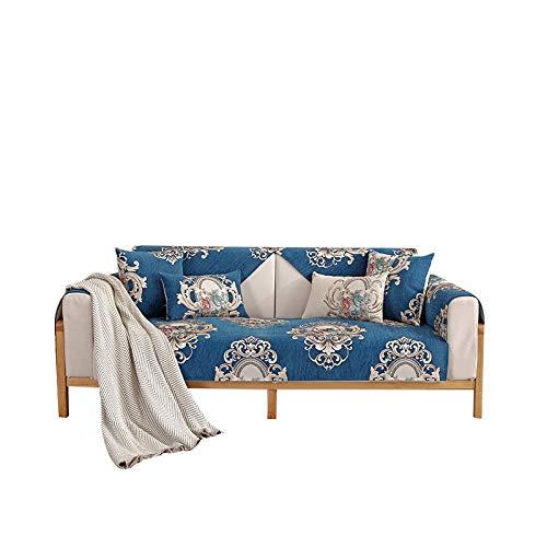 weichuang Funda de sofá para sofá, funda de tela antideslizante, funda universal para sofá de sala de estar (color: azul, especificación: 70 x 70 cm, 1 unidad)