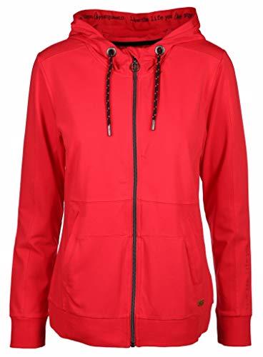 soquesto Damen Sweatjacke Größe 38 EU Rot (rot)