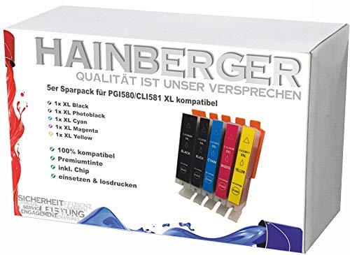 5X Hainberger XL Patronen kompatibel zu Canon PGI580 CLI581 Pixma