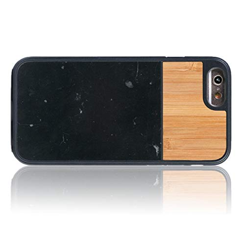 WOLA für iPhone 6 / 6s Hülle Holz Marmor Terra Handyhülle Bambus-Marmor
