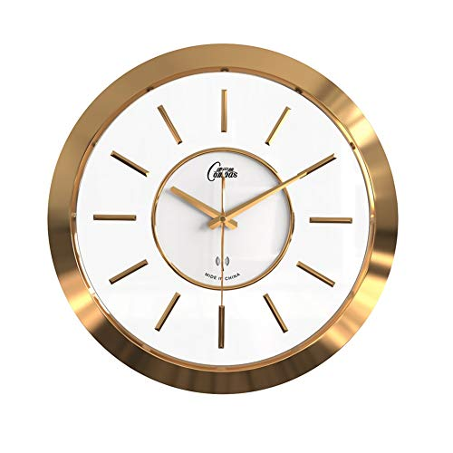 Reloj de pared J plata marco de aluminio cubierta de vidrio cocina decoración sala dormitorio baño oficina