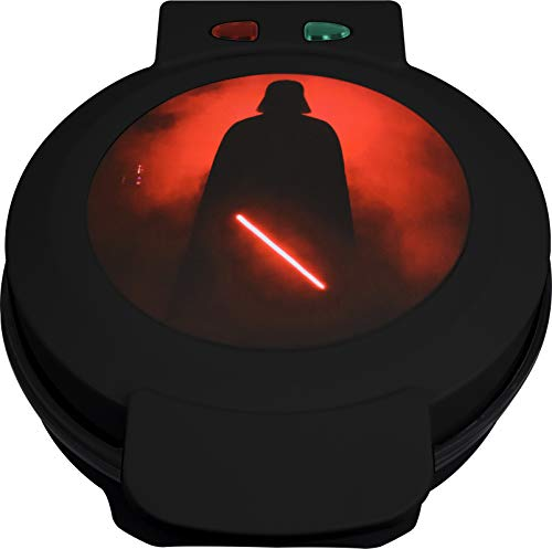 Uncanny Brands WM-SRW-VAD Darth Vader Waffle Maker- Sith Lord On Your Waffles- Waffle Iron