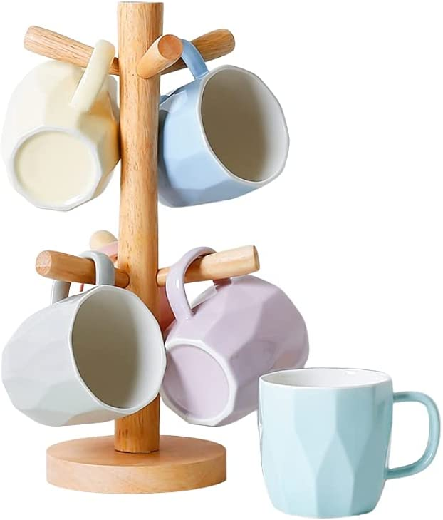 Teacup Limited time sale Set 4 Special sale item or 6 Mug Cup with Coffee Bambo Ceramics
