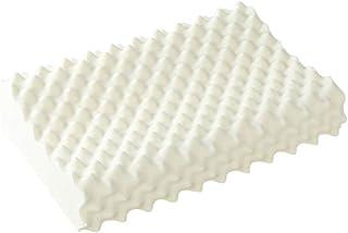 Puchika - Almohada cervical de látex natural, masaje de partículas, almohada para dormir de lado con funda lavable, almohada para dormir de espalda (56 x 36 cm)