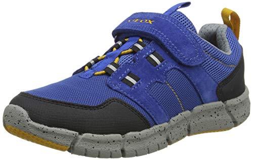 Geox Jungen J FLEXYPER Boy C Sneaker, Blau (Royal/Dk Yellow Ck42g), 33 EU