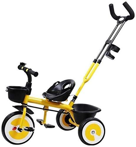 Pushchairs Kindertrikes driewieler Baby Bike 2 in 1 Baby driewieler wandelwagen met drukknop handvat Achterkant Zitting voor Peuter Jongens/Meisjes Duwen Handvat Groeien Babyproducten