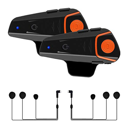 MLX 2 Uds BT-S2 Pro Intercomunicador para Casco Motocicleta Bluetooth Casco Auriculares Impermeable BT Interfono con Radio FM LQLYEM