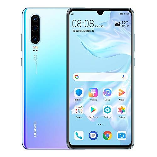 """Huawei P30 – Smartphone 6.1"""" FHD+, 40MP Leica Triple Camera, 128 GB / 6 GB, Desbloqueado Piedra de Luna"""