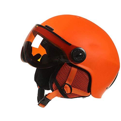 Heren en dames skihelm sport skihelm ski snowboard met bril masker skihelm