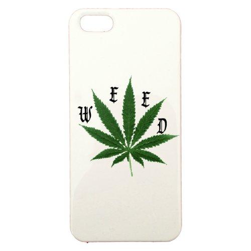 Cover di protezione personalizzabile in plastica–Apple–iPhone 5–Weed–Colore: Bianca