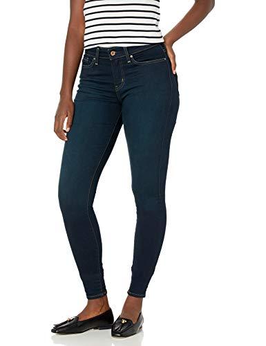 Signature by Levi Strauss & Co. Gold Label Women's Modern-Skinny Jean, Mascara/Dark Blue, 8