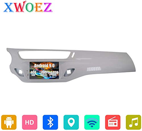 Für Citroen C3 DS3 2010-2016 7 Zoll Andriod 9.0 Doppel-DIN-Autoradio Sat NAV Bluetooth-GPS-Navigation-Steuergerät WiFi Spiegel Link-Touch Screen