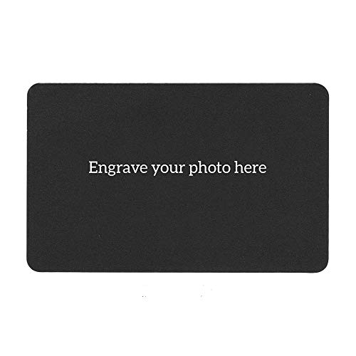 Personalized Photo/Text Custom Engraved Metal Wallet Mini Insert Card Handmade Love Note To My Wife Husband Sister Aunt Grandmother Granddaughter Father Mother Daughter