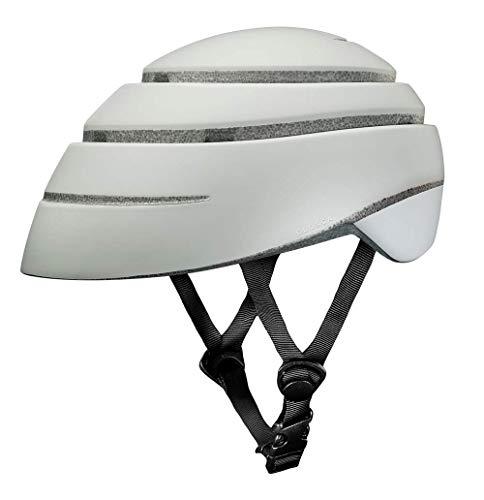 Closca Casco de Bicicleta para Adulto, Plegable Helmet Loop. Casco de Bici y Patinete Eléctrico/Scooter para Mujer y Hombre Unisex. Perla/Blanco, Talla M