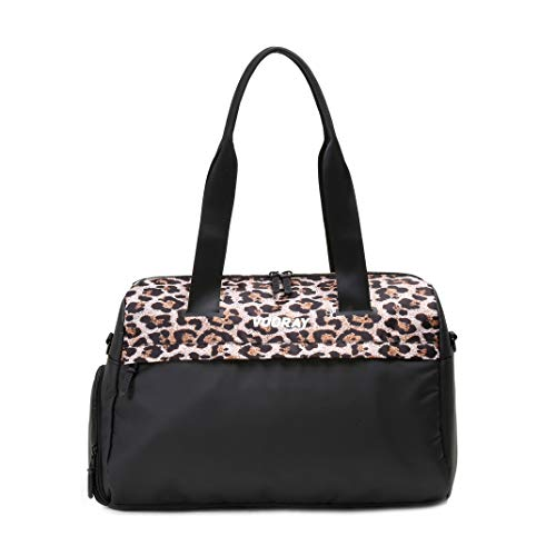 Vooray Trainer Duffel - 42 cm./16,5 inch - 25L - Gym Bag with Shoe Pocket & Dry pocket (Cheetah)