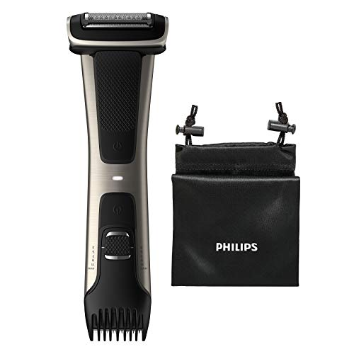 Philips Body Groomer, Serie 7000 Duschfest, ultimativer Trimmer zum Rasieren oder Trimmen überall unterhalb des Halses, kabelgebundene und kabellose Verwendung – BG7025/13