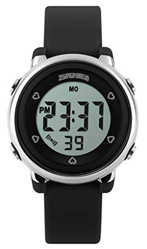 Kids Sport Watch,Boys Girl Watch for Children,Digital Outdoor Multifunctional Chronograph LED 50 M Waterproof Watch for Girl with Alarm Clock/Timer/LED Light Silicone Band, Best Gift