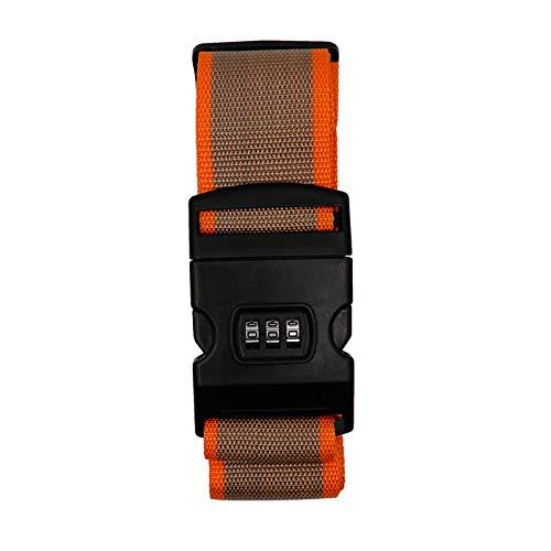 Logic(ロジック) スーツケースベルト クロスタイプ (ベージュ×オレンジ) 十字型 ゴムベルト [ダイヤルロック/トランクベルト/海外旅行]