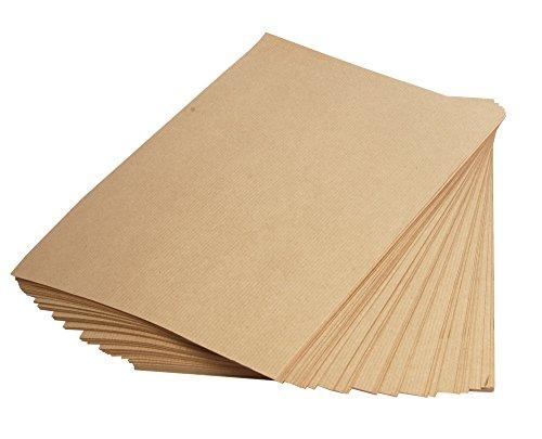 Clairefontaine 3708C Packung mit 250 Blatt Kraftpapier (90g, DIN A4, 21 x 29,7 cm, ideal für Kunstprojekte und zum Einpacken) braun