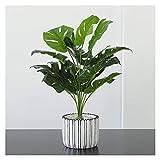 YAOLUU Decoración de la habitación Plantas de Palmeras Artificiales Planta de Hoja Verde en Maceta en Maceta for Escritorio Top Decor Planta Artificial (Size : H 20.5')