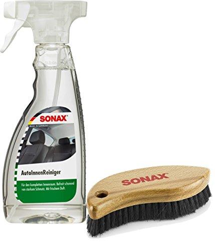 SONAX AutoInnenReiniger, 500ml + Textil-& Lederbürste
