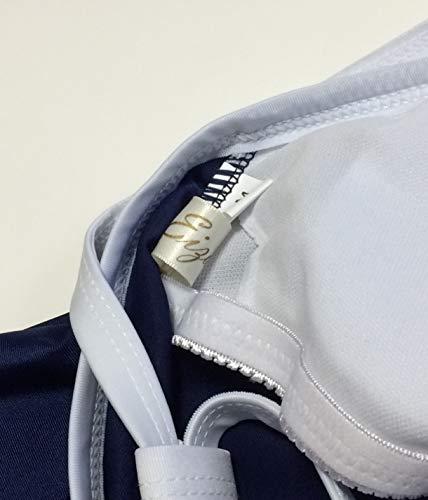 『Eiza スクール水着 ワンピース 新型 パイピング スク水 背面 Y字型 コスプレ 高伸縮 e338 (紺, M)』の3枚目の画像
