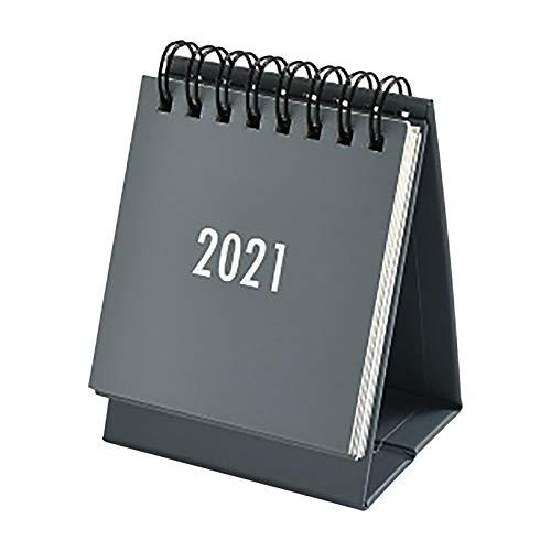 NRRN Calendario 2021, mini calendario de escritorio 2020-2021, calendario de pie con tapa para diario, planificador mensual, organizador para oficina en casa